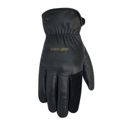 Can-Am Spyder Black Leather Gloves
