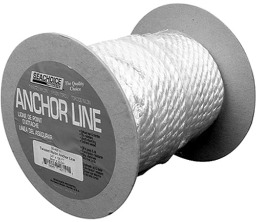 Seachoice 3-Strand Nylon Anchor Line - 3/8 x 100 ft
