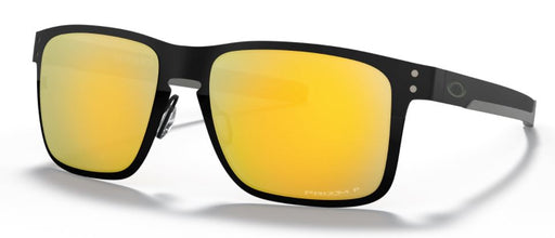 Oakley Holbrook Metal Sunglasses - Polished Black W/ Prizm 24K Polarized Lens