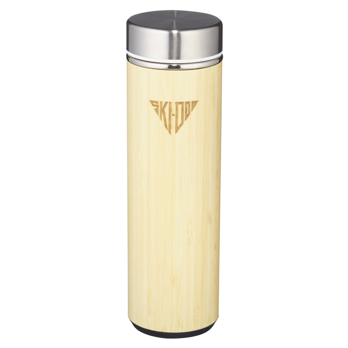 Ski-Doo Double Wall Bamboo Thermal Bottle