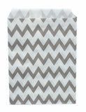 Grey Chevron Candy Favor Bags (set of 25)