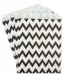 Black Chevron Candy Favor Bags (set of 25)