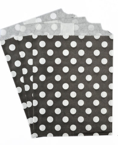 Black Polka Dot Candy Favor Bags (set of 25)