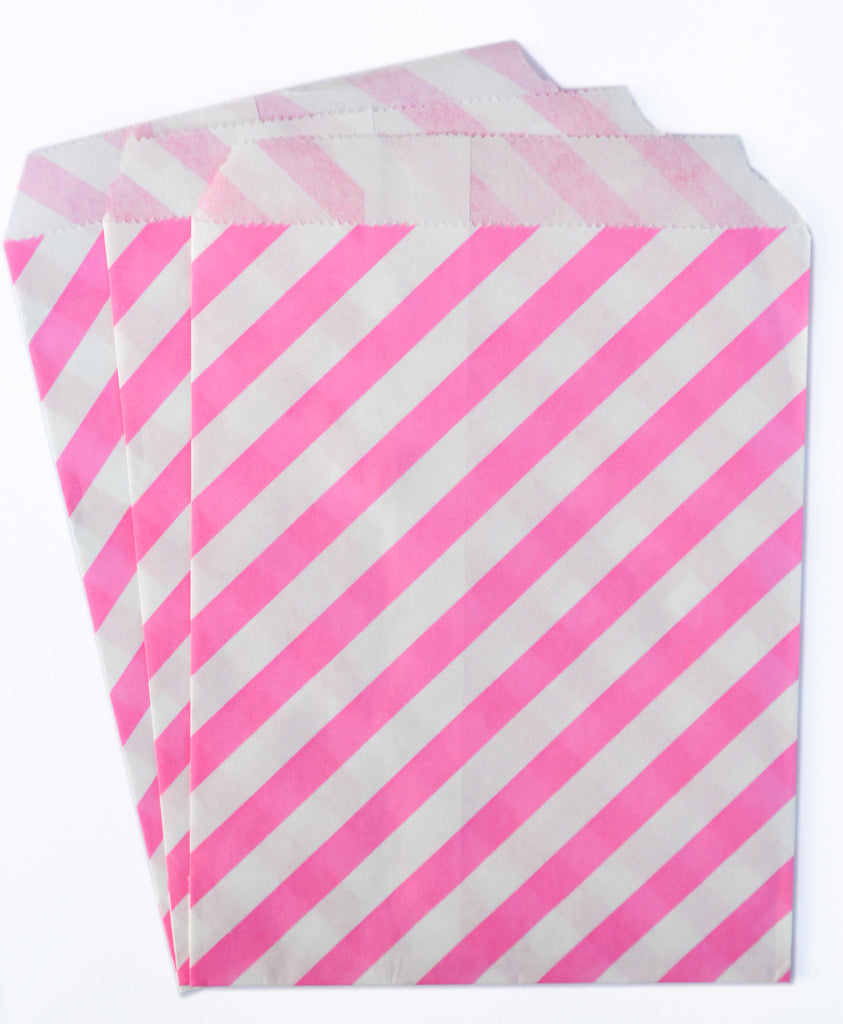 Hot Pink Candy Buffet Bags (set of 25)