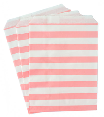 Light Pink Stripe Candy Favor Bags (set of 25)