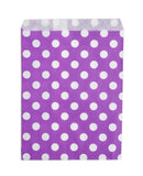 Purple Polka Dot Candy Buffet Bags (25 count)