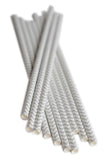 Sliver/Grey Chevron Paper Straws (25 count)
