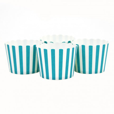 Candy/Baking Cups, Aqua Stripe (set of 24)