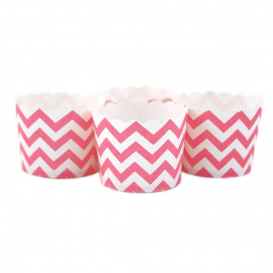 Candy/Baking Cups, Pink Chevron (set of 24)