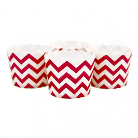 Candy/Baking Cups, Red Chevron (set of 24)