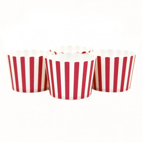 Candy/Baking Cups, Red Stripe (set of 24)