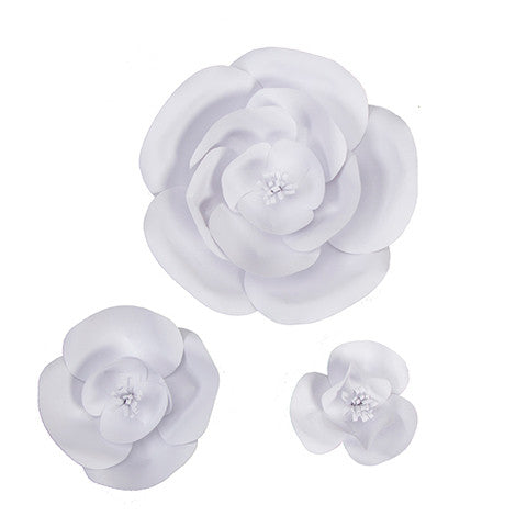 White DIY Paper Flowers ( set of 3)