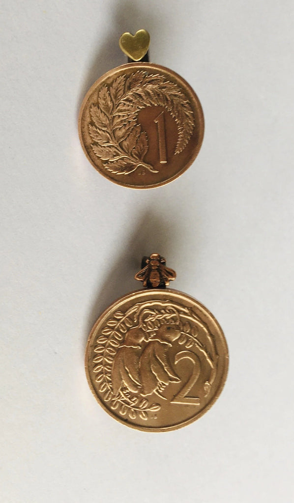 *Re-minted Petite Coin Brooch - One Cent or Two Cents