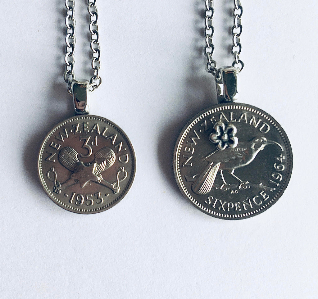 *Re-minted Petite Coin Pendants - Threepence or Sixpence