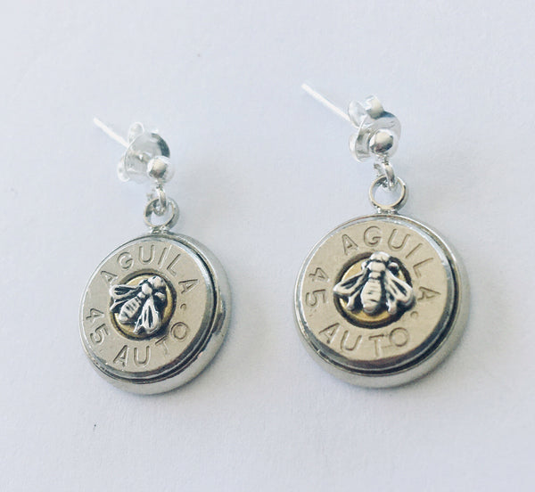 Steampunk Re-loaded Slice Earrings with Tiny Symbols