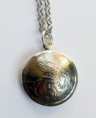 *Sale Re-minted Silver Five Cent Locket