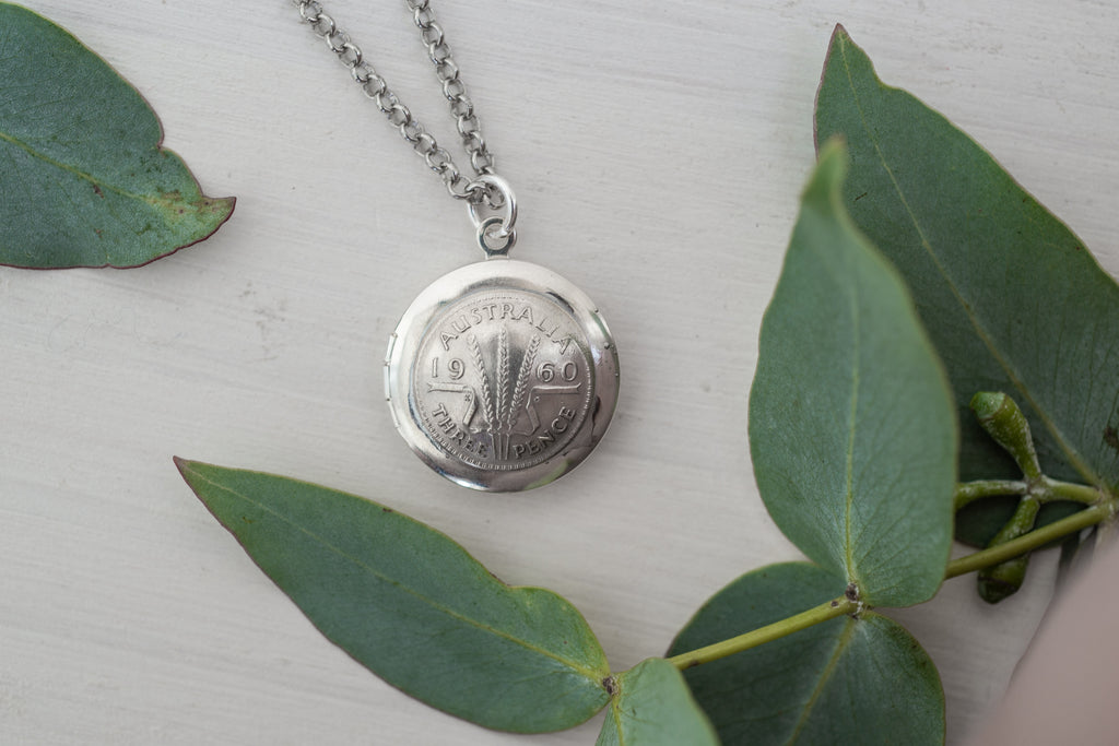 Re-minted AUSTRALIAN Sixpence Locket