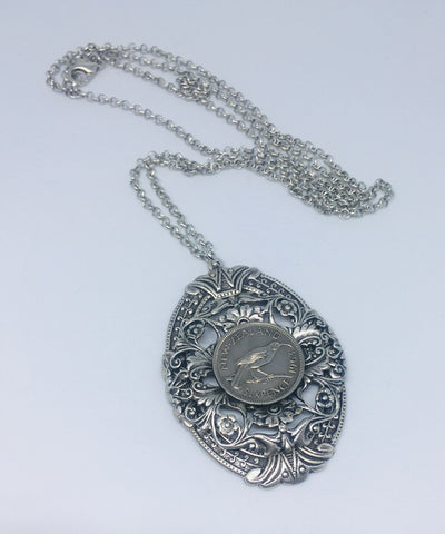 NEW!! Re-minted Grand Oval Sixpence Pendant