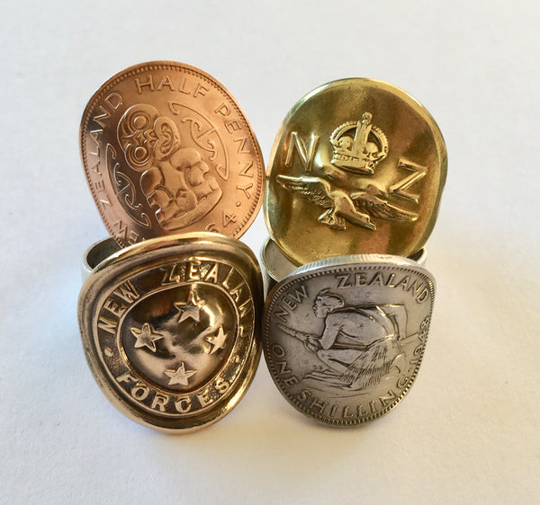 *Re-minted Half Penny and Shilling Rings