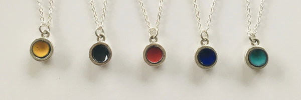 Glass Art - Mini Domed Enamel Pendants