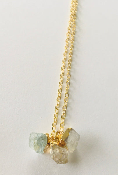 NO DIVISION Mini Gemstone TRIO necklace - Two to choose from