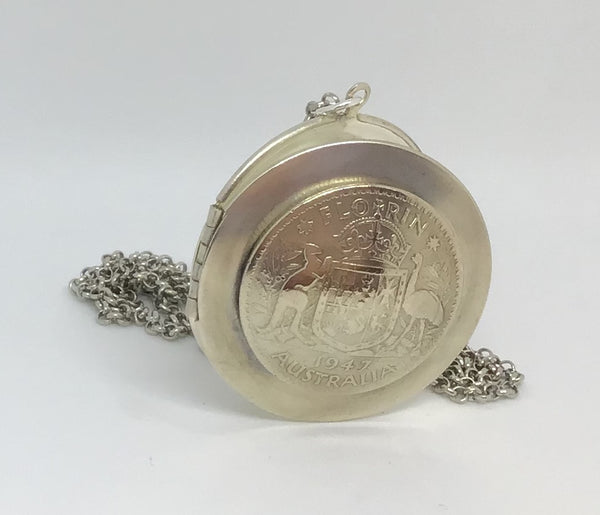 Re-minted AUSTRALIAN locket - One Florin