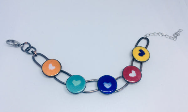 *Glass Art -  Enamoured Aotearoa Bracelet - NEW!!