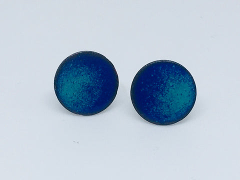 NEW!! Glass Art - Enamoured Aotearoa - Dual-toned Stud Earrings