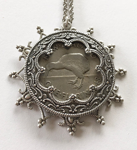 *Re-minted Layered Snowflake Pendant - One Florin