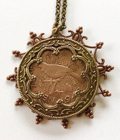 Re-minted Layered Snowflake Pendant - One Penny