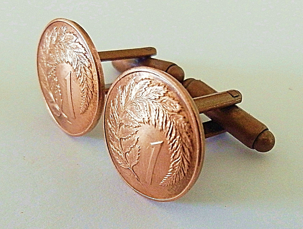 *Re-minted: Copper one cent cufflinks
