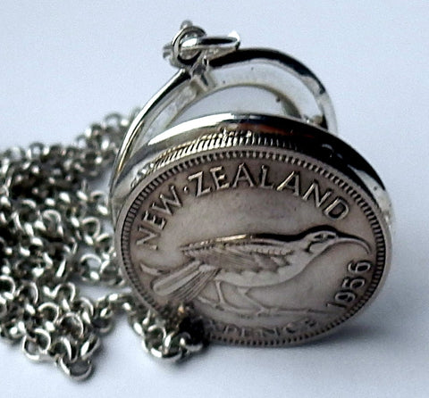 Bestseller! *Re-Minted: NZ Sixpence Locket - Silver