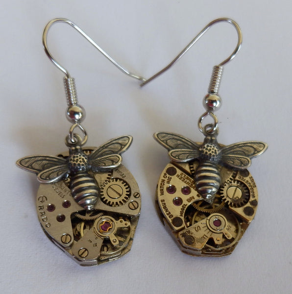 Steampunk Timepiece earrings