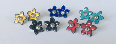 Glass Art - Mini Jasmine Stud Earrings 5 colours!!