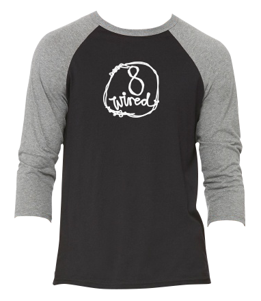 Raglan 3/4 Sleeve Tee - 8 Wired Brewing