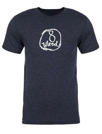 Tri Blend Navy Tee - 8 Wired Brewing
