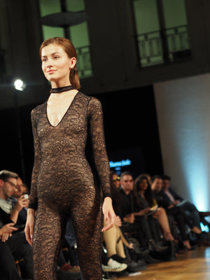 custom made sexy fashion week jumpsuit