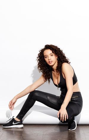Active sexy performance jumpsuit in black