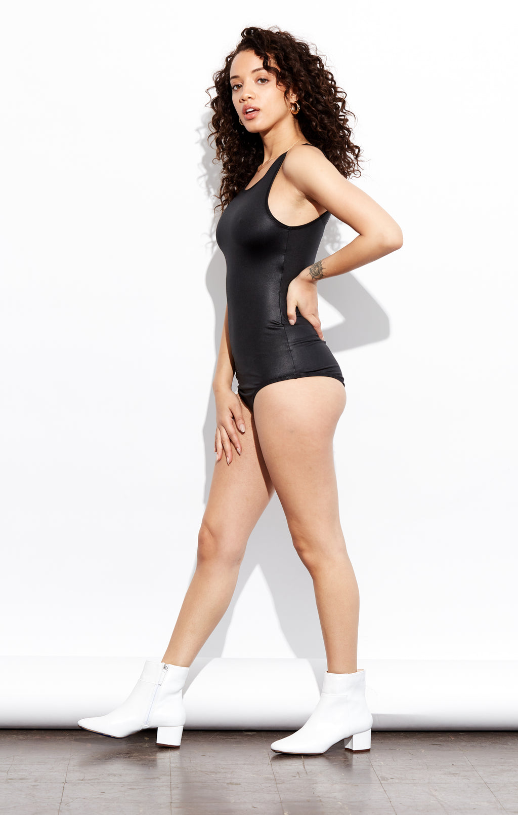 Shama Jade Zip Me Up bodysuit: Black - Shama Jade | Women's Luxury Yoga Jumpsuits and Activewear