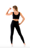 high waisted activewear legging black