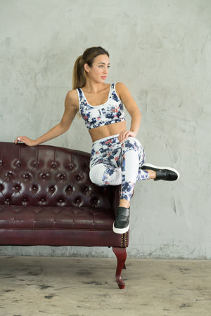 Limited Edition Shama Jade Avalon Moto Legging: Summer Print - Shama Jade | Women's Luxury Yoga Jumpsuits and Activewear