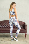 Limited Edition Shama Jade Avalon Moto Sports Bra: Summer Print - Shama Jade | Women's Luxury Yoga Jumpsuits and Activewear