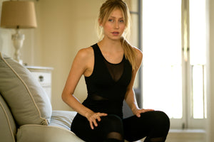 Shama Jade Maria Jumpsuit: Black - Shama Jade | Women's Luxury Yoga Jumpsuits and Activewear