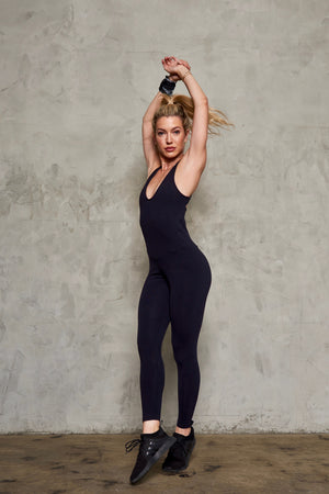 BIRARRITZ JUMPSUIT: BLACK