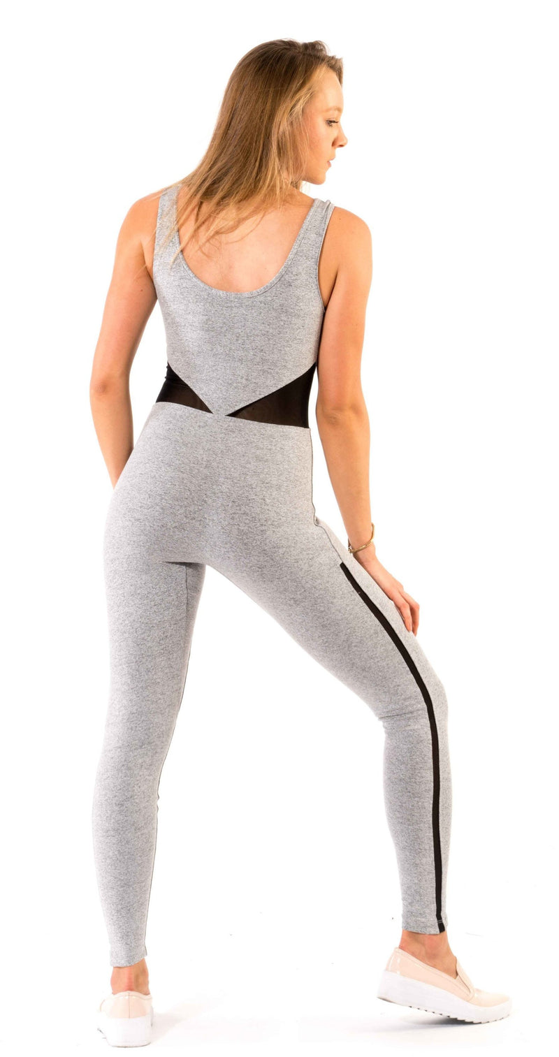 Shama Jade Invisible Luxury Jumpsuit: Grey - Shama Jade | Women's Luxury Yoga Jumpsuits and Activewear