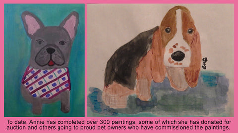 Annie Blumenfeld Wags 4 Hope Paintings