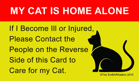 My Cat is Home Alone Wallet ID Card