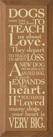 Dogs come into our lives to teach us about love...