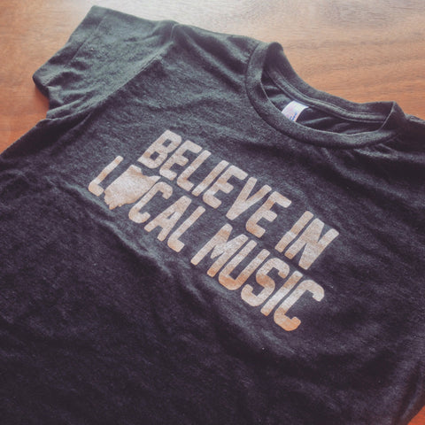 Believe In Local Music Kids Rock Tee