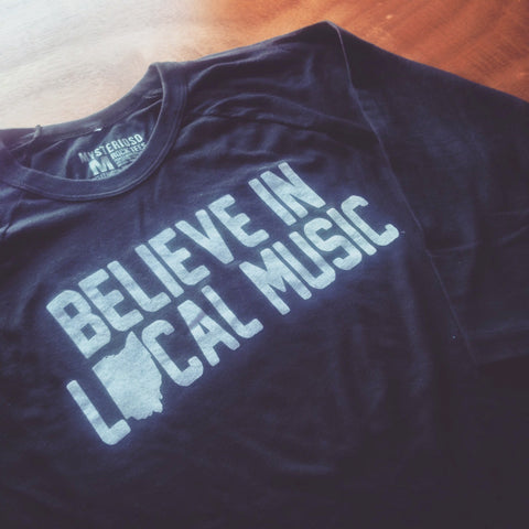 Believe In Local Music Raglan